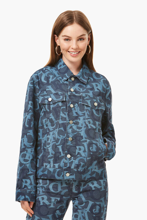 Unisex All Over Print Nico Jacket Blue